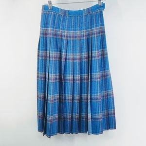 🐾 Pendleton Vintage Tartan Plaid Wool Skirt